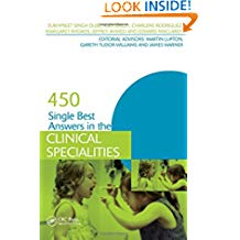 450 Single Best Answers In The Clinical Speci...